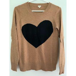 J. Crew Factory Heart Crewneck Sweater